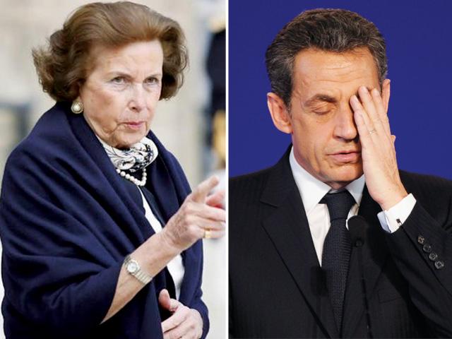 Liliane Bettencourt y Nicolas Sarkozy, dos protagonistas del Caso Bettencourt.