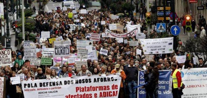 Manifestación en contra de la preferentes