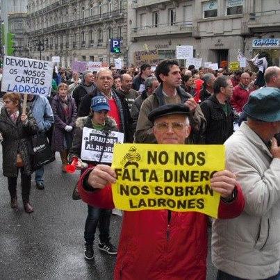 Manifestante en una de las concentraciones organizadas por la plataforma
