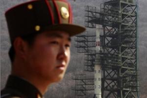 Imagen del lanzamiento fallido de un misil norcoreano en abril.
