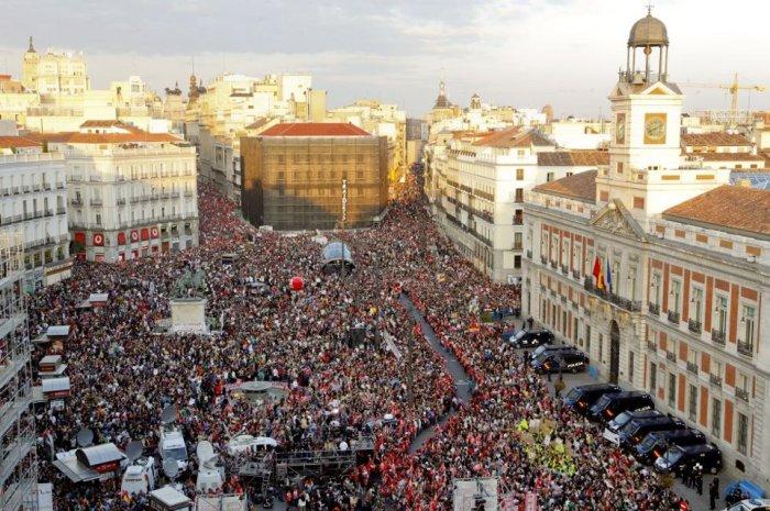 Las manifestaciones el día de la huelga fueron masivas en toda España