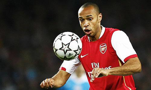Henry en su etapa en el Arsenal