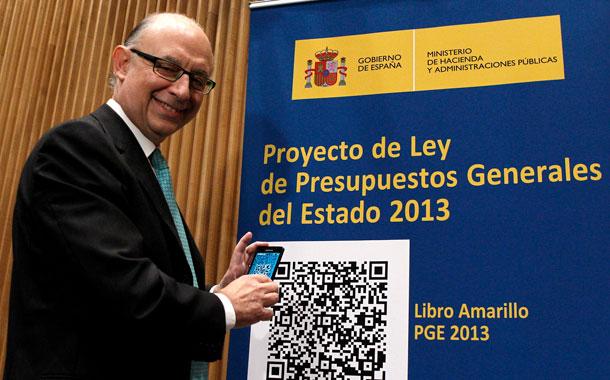 """El ministro de Hacienda en la presentación de los PGE 2013, """"los más sociales de la democracia"""" en sus propias palabras"""