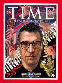 Dave Brubeck fue portada de la revista TIME en 1954.