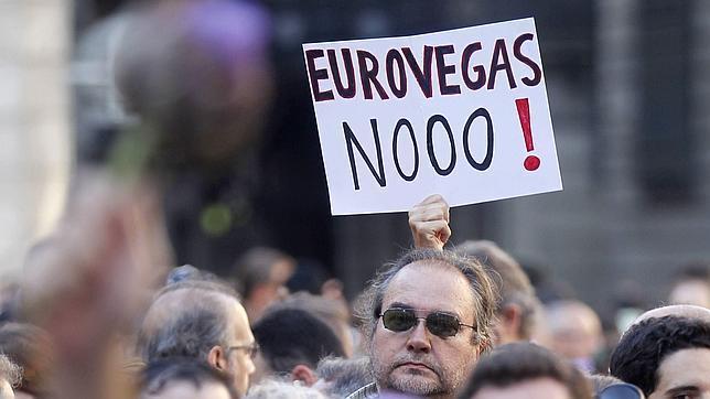 Protestas contra la construcción de Eurovegas/Fotografía: abc