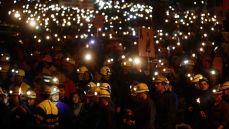 Los mineros llegaron a Madrid marchando en una numerosa manifestación mientras el gobierno aprobaba el mayor recorte de la historia