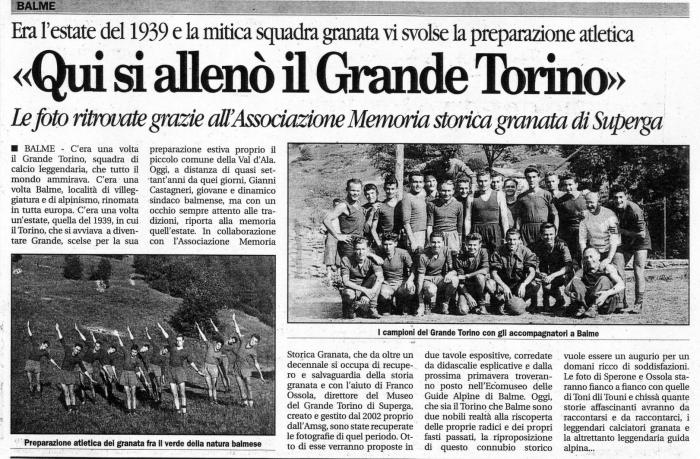 Fragmento de prensa Italiana.