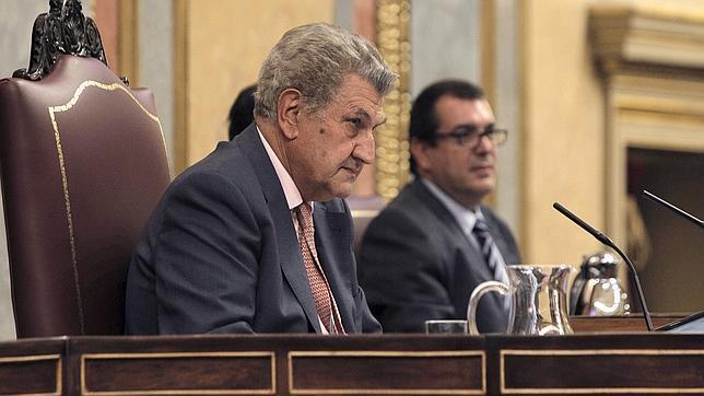 Posada durante una sesión en el Parlamento/ Fotografía: EFE
