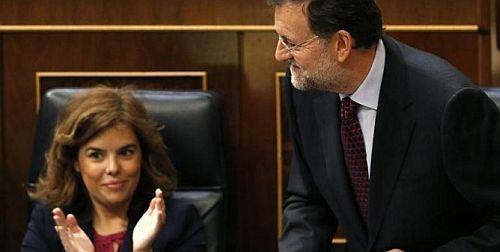 Soraya Sáez de Santamaría y Mariano Rajoy/ Fotografía: EP