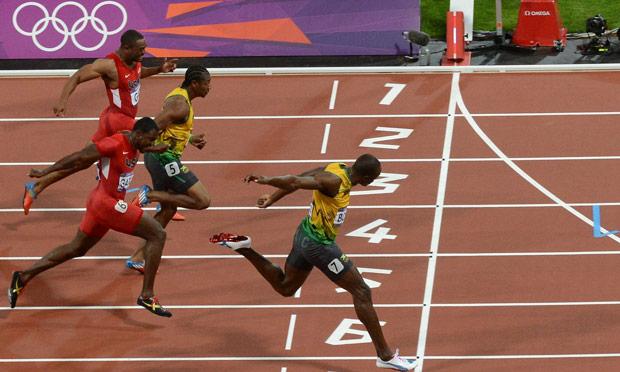 Final de los 100 metros en Londres