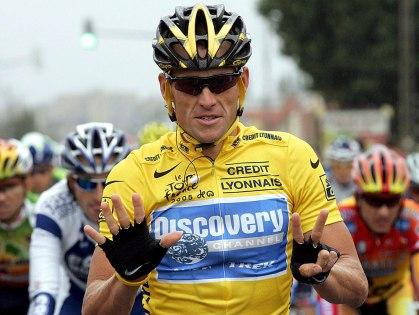 Armstrong durante el Tour