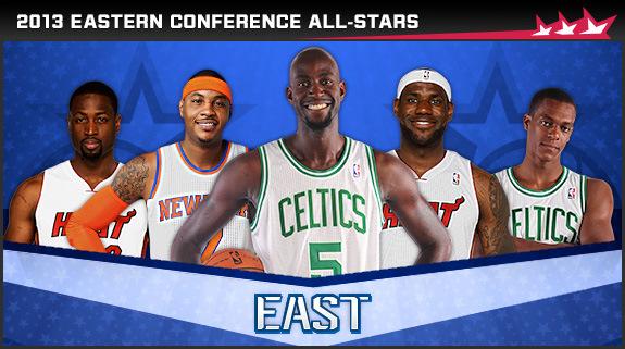 Conferencia Este: Rondo-Wade-Anthony-James-Garnett   FOTO: NBA.com