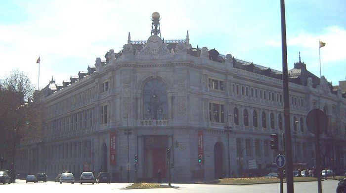 Edificio que alberga el Banco de España, en Madrid.