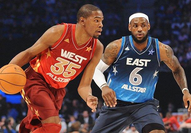 Kevin Durant y Lebron James en el último All Star Game   FOTO: Sports Illustrated