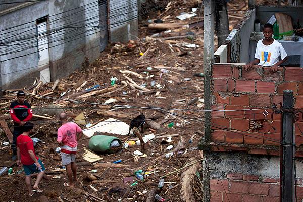 Zona afectada por las inundaciones en el estado de Río de Janeiro