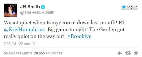 ¡No estaba en silencio cuando Kanye lo petó el mes pasado!