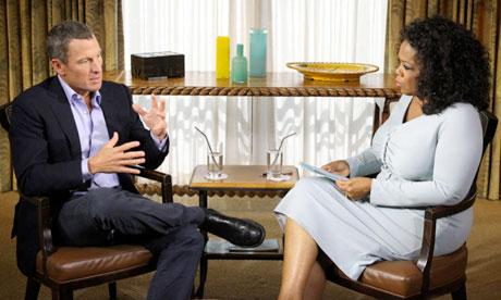 Lance Armstrong y Oprah Winfrey durante la entrevista