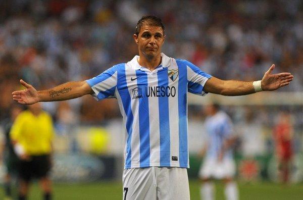 Joaquín, jugador del Málaga C.F.