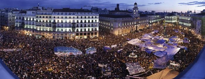 Panorámica de la manifestación en la Puerta del Sol / Fuente: La Información