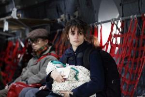 Gemma con su hijo durante la Guerra Bosnia