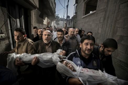 Entierro en Gaza