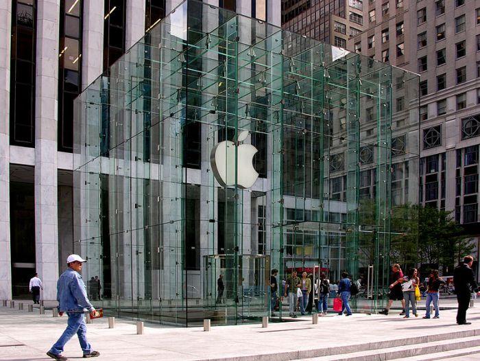 Entrada de Apple Store en la Quinta Avenida de Nueva York