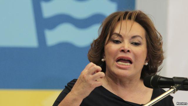 Elba Esther Gordillo durante un discurso / Foto: Vonoticias