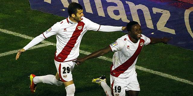 Lass y Baptistao celebrando un gol contra el Atlético | FOTO: El Mundo