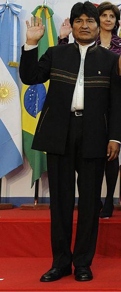 Evo Morales, durante un acto público en 2012