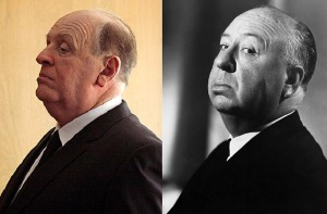 Anthony Hopkins caracterizado como Alfred Hitchcock