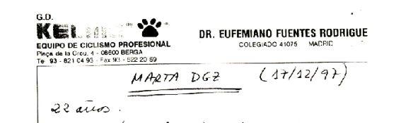 Papeles que indican la supuesta vinculación de Marta Domínguez con Eufemiano