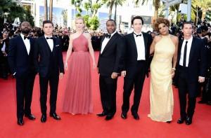 Los protagonistas de la película durante su promoción