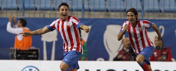 El Cebolla Rodríguez celebrando su gol al Viktoria   FOTO: mundodeportivo