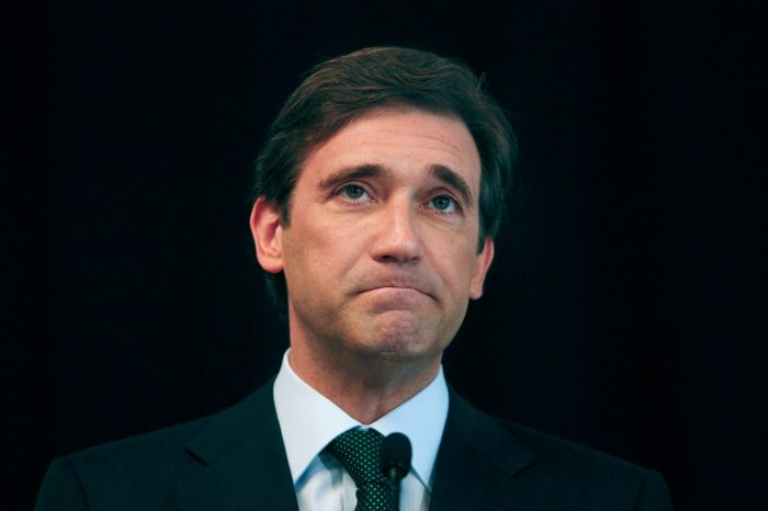 El primer ministro portugués,  Passos Coelho