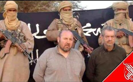 Sérge Lazarevic (izq) y Philippe Verdon (drch) secuestrados en 2011 por AQMI