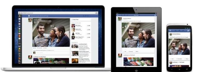 Nueva apariencia de News Feed de Facebook / FACEBOOK