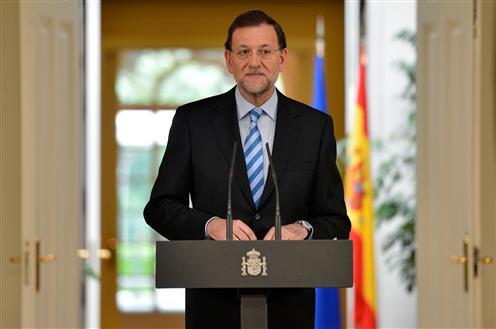 Mariano Rajoy durante una comparecencia/ Fuente: La Moncloa