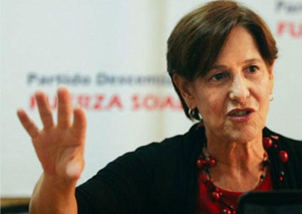 La alcaldesa de Lima , Susana Villarán, durante una charla //Gaiaespana