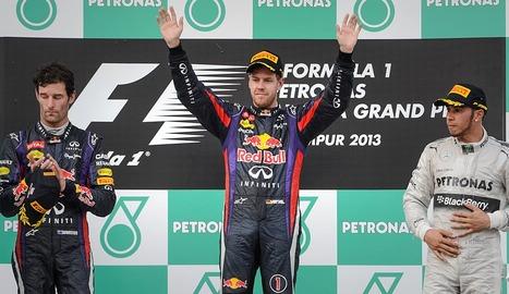 Webber, Vettel y Hamilton en el GP Malasia 2013 | FOTO: eldiariodenavarra.es