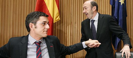 Eduardo Madina y Alfredo Pérez Rubalcaba/ Fuente: El Confidencial