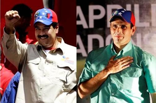 Nicolás Maduro y Henrique Capriles //Fuente: http://static2.elespectador.com/