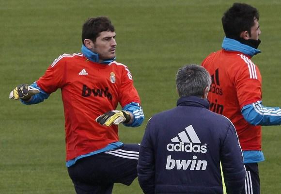 Casillas se ha mantenido en el banquillo bajo la dirección de Mou.