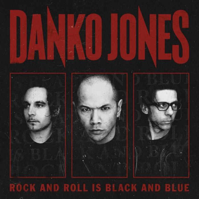 Portada del sexto disco de Danko Jones, Rock And Roll Is Black And Blue