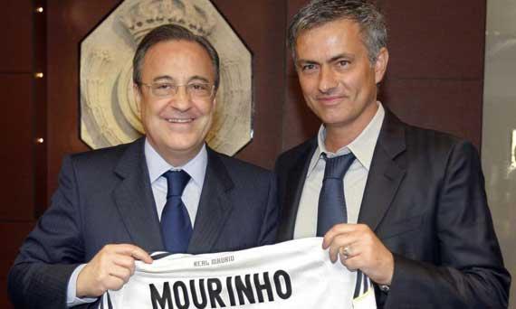 Florentino Pérez y José Mourinho | FOTO: servifutbol.com
