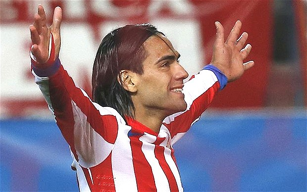 Falcao celebrando un gol | FOTO: telegraph.co.uk