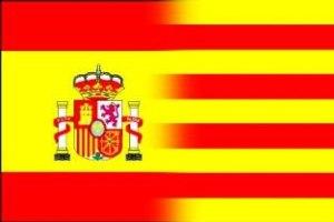 Banderas de esta tipología fueron exhibidas en Barcelona