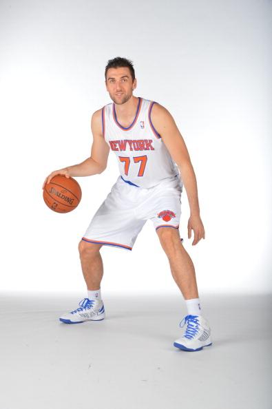 Andrea Bargnani en el Media Day de los Knicks | Foto: NBA.com