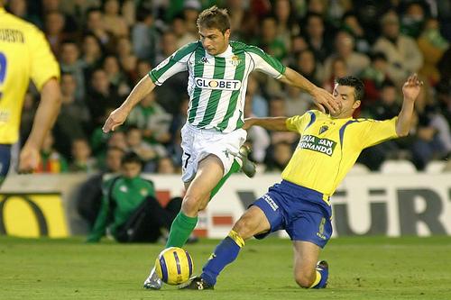 Joaquín desbordando en su etapa verdiblanca. FOTO: fiebrebetica.com