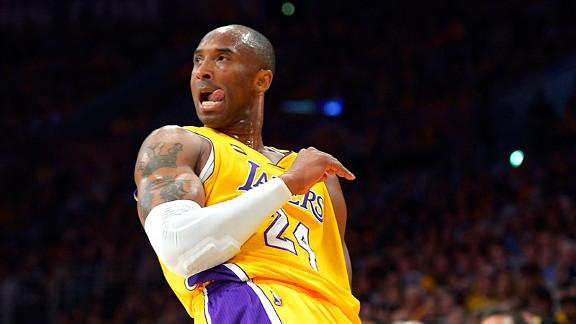 Kobe Bryant está situado en un polémico 25º puesto. | Foto: ESPN
