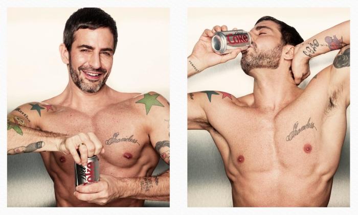 Marc Jacobs como imagen de Coca-Cola